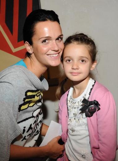 С дочкой Александрой