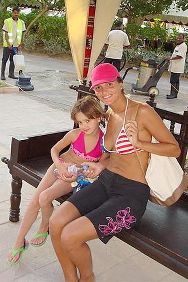 Слава с дочкой Александрой